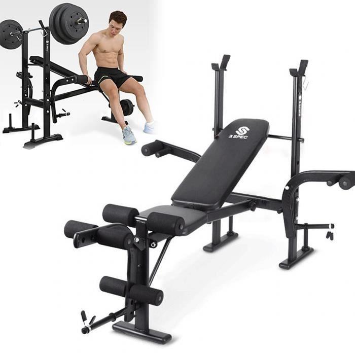 KirinSport Banc de Musculation Banc d'entraînement Multi-gym Sport Pliable Banc de Poussoir pour Équipement de Fitness