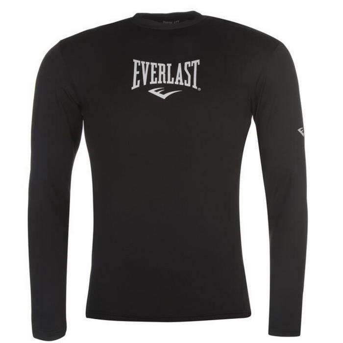 Tee-Shirt de Compression Sport Homme Everlast Noir