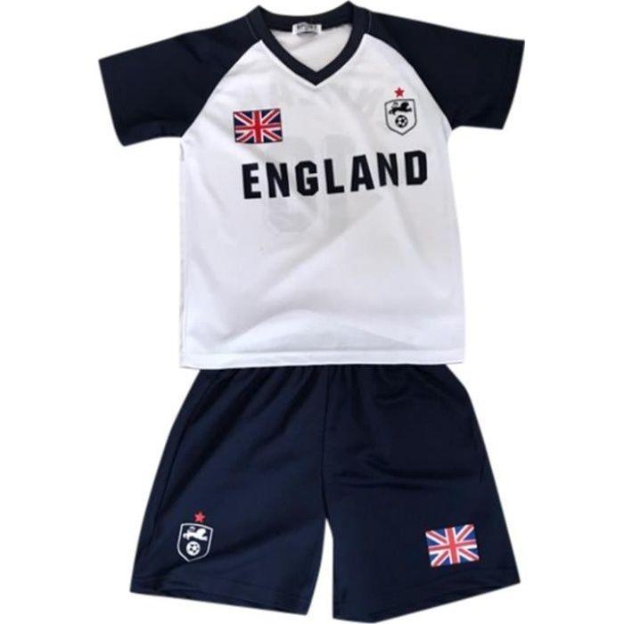 Ensemble De Vetements De Football - Tenue De Football - NPZ - Ensemble short et maillot de foot Angleterre enfant blanc Taille de 2