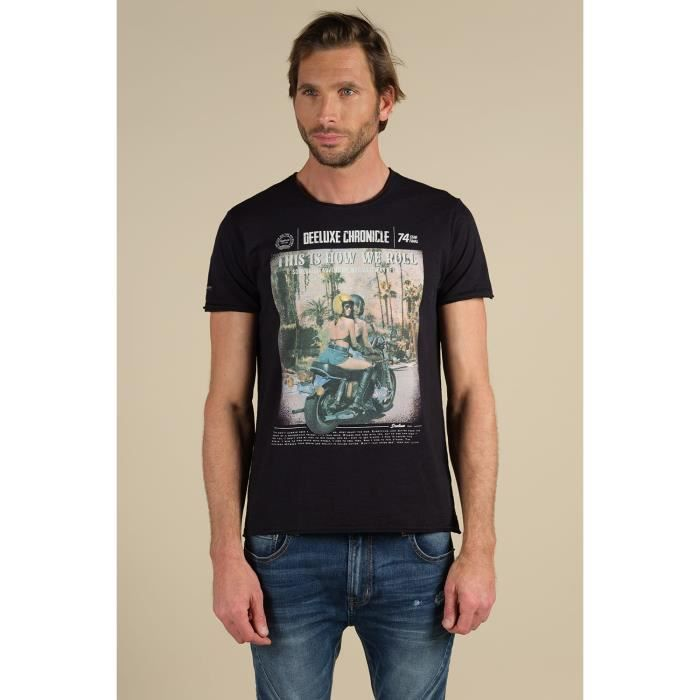DEELUXE T-shirt imprimé moto BREAKUP Black