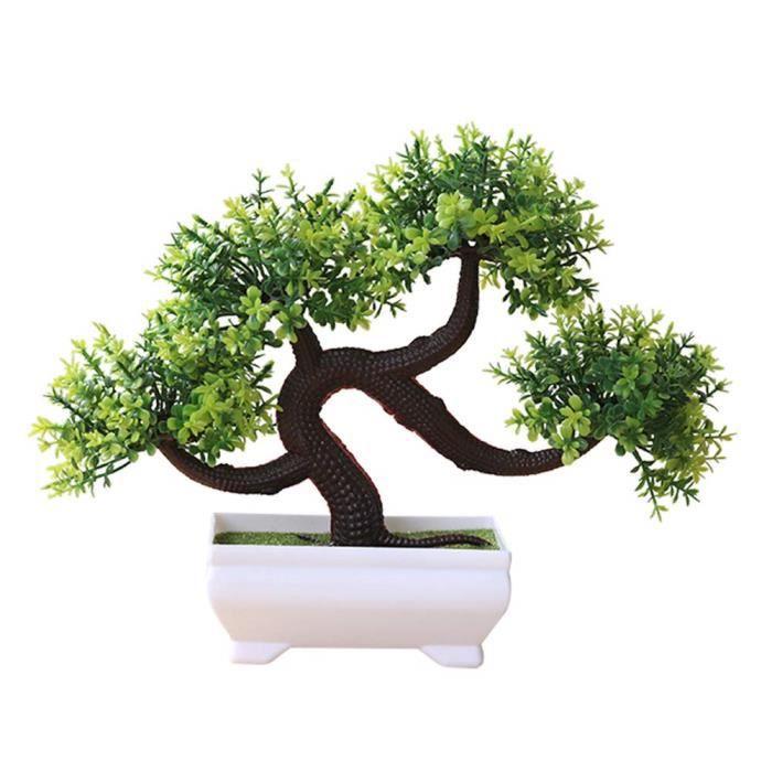 Plante en Pot Plante Artificielle Coloré Arbre Plastique Bonsaï de Simulation Extérieur Plante Verte Décoration