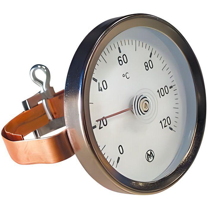 Thermomètre à applique à bracelet 0 à 120°C