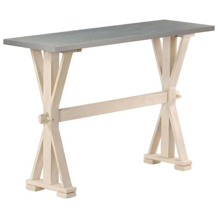 Zhihushop - Meuble - Table console table d'appoint avec dessus en zinc 118x35x76 cm Bois de manguier