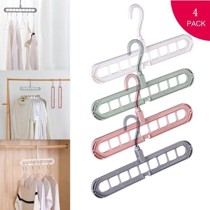Crochet Blanc sur la Porte cintre crochet Vêtements Stockage Porte-serviette suspendu rack