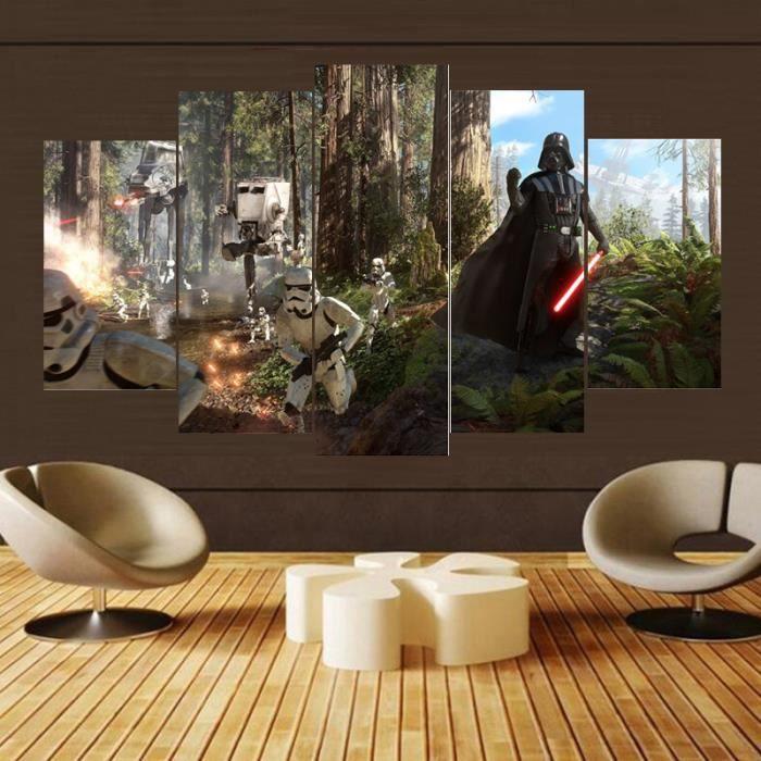 TABLEAU - TOILE Toile sans cadre Peinture 5 pièces imprimées Movie