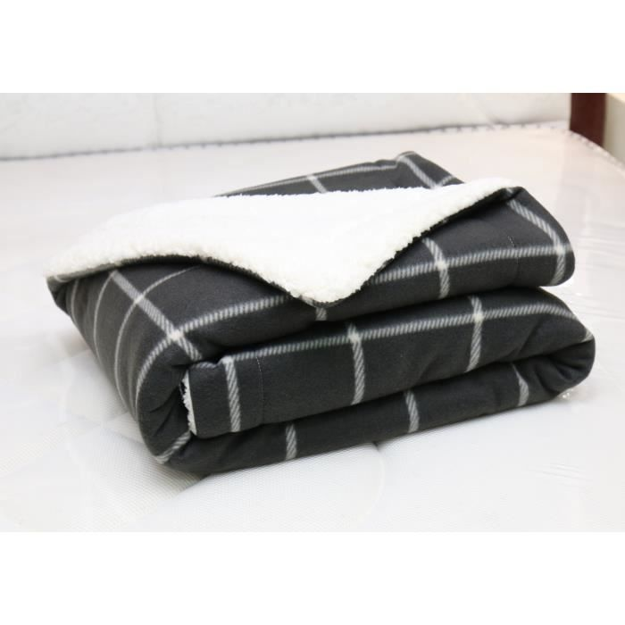 plaid pour canape noir et blanc achat vente pas cher. Black Bedroom Furniture Sets. Home Design Ideas