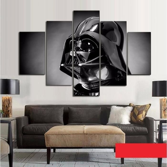 5 panneaux affiches en toile art star wars film peinture art mural 5 pi ces affiche imprim e. Black Bedroom Furniture Sets. Home Design Ideas