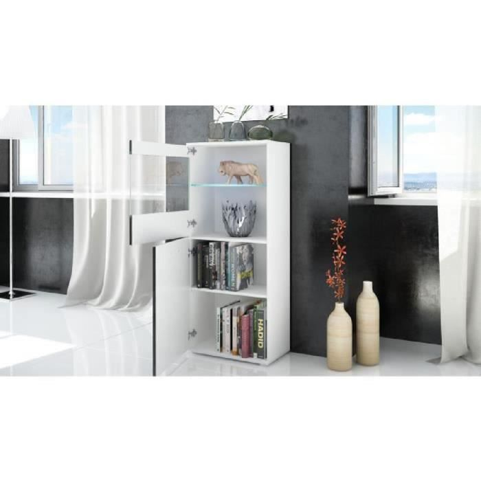 combinaison murale tv vitrine tag re achat vente. Black Bedroom Furniture Sets. Home Design Ideas