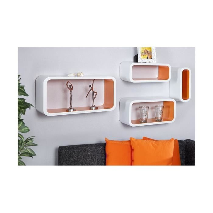 Cube mural bois max min for Etagere murale chambre a coucher