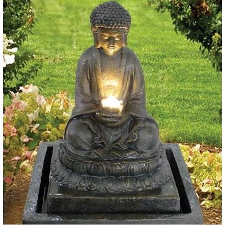 Fontaine bouddha illumination achat vente fontaine de for Fontaine zen de jardin