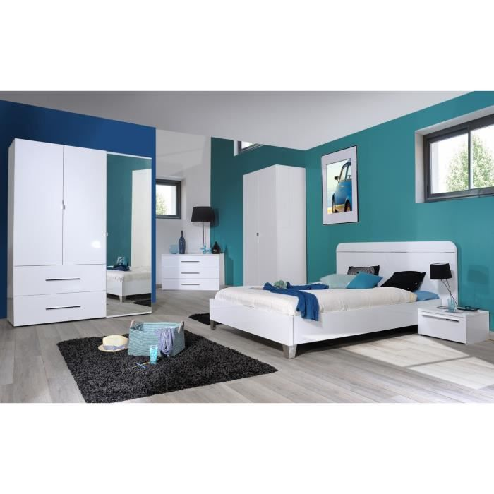Chambre coucher compl te adulte leader 180 x 200 cm achat vente chamb - Chambre d adulte complete ...