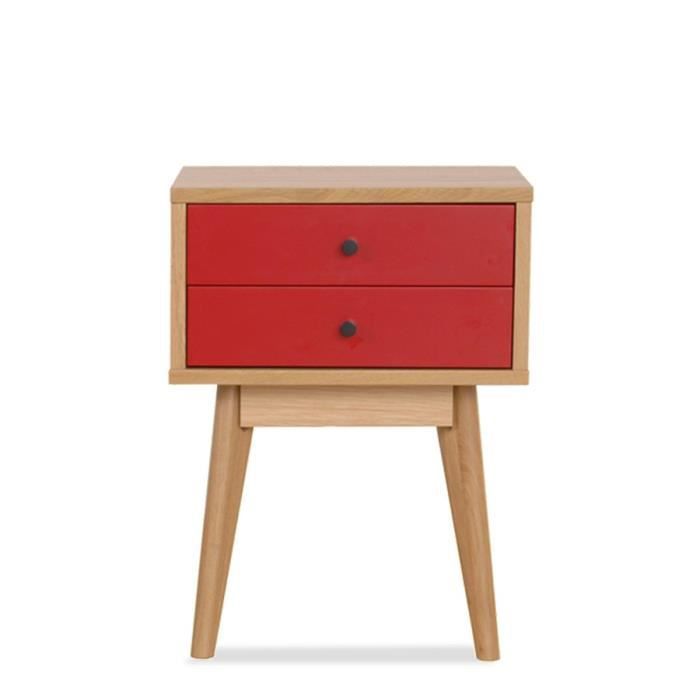 meuble de rangement design scandinave 2 tiroirs achat vente petit meuble rangement meuble. Black Bedroom Furniture Sets. Home Design Ideas