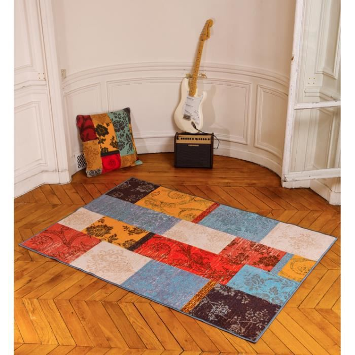 tapis moderne isparta patchwork multicolore 17 achat vente tapis cdiscount. Black Bedroom Furniture Sets. Home Design Ideas