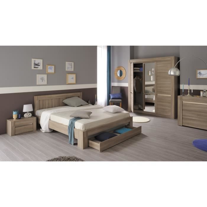 Chambre adulte compl te contemporaine ch ne clair for Chambre contemporaine adulte