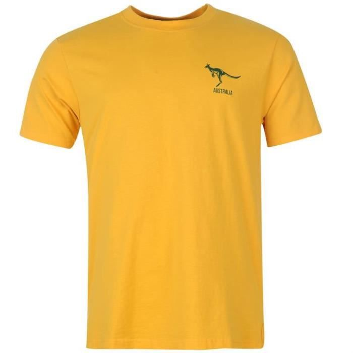 t shirt rwc coupe du monde de rugby 2015 australie jaune jaune achat vente t shirt cdiscount. Black Bedroom Furniture Sets. Home Design Ideas