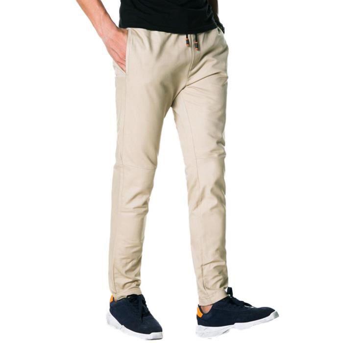 Homme Pantalon Chino Slim En Coton Droit