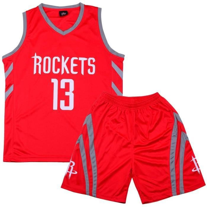 NBA Maillot et Shorts de basketball James Harden Houston Rockets Enfant garon Rouge