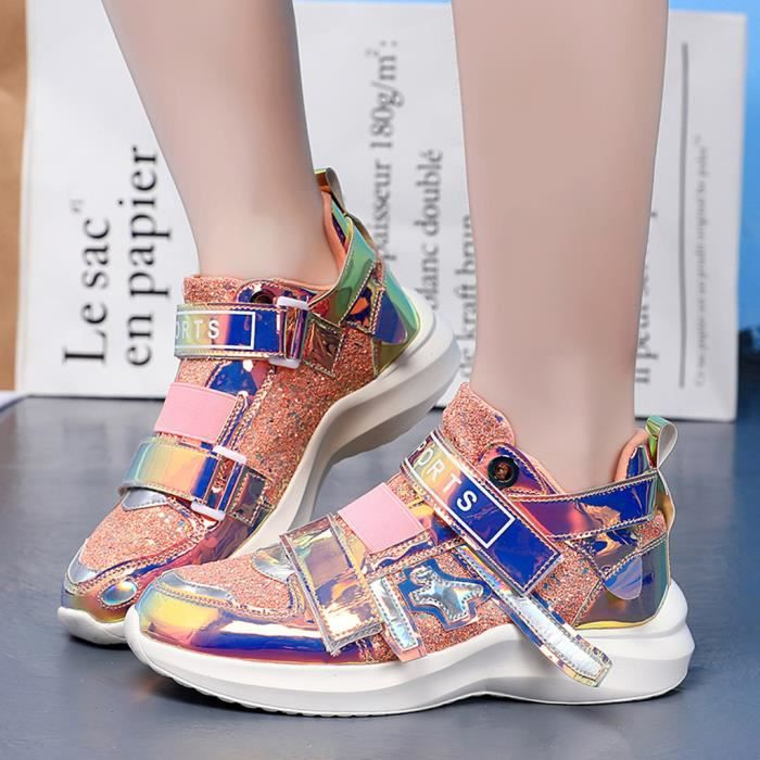 Chaussure De Securite Femmes Colore Miroir Tendance Sneakers Discotheque Sauvage Paillettes Casual Chaussures Hdh90705562pp38 Baet Violet Achat Vente Chaussure Toning Cdiscount