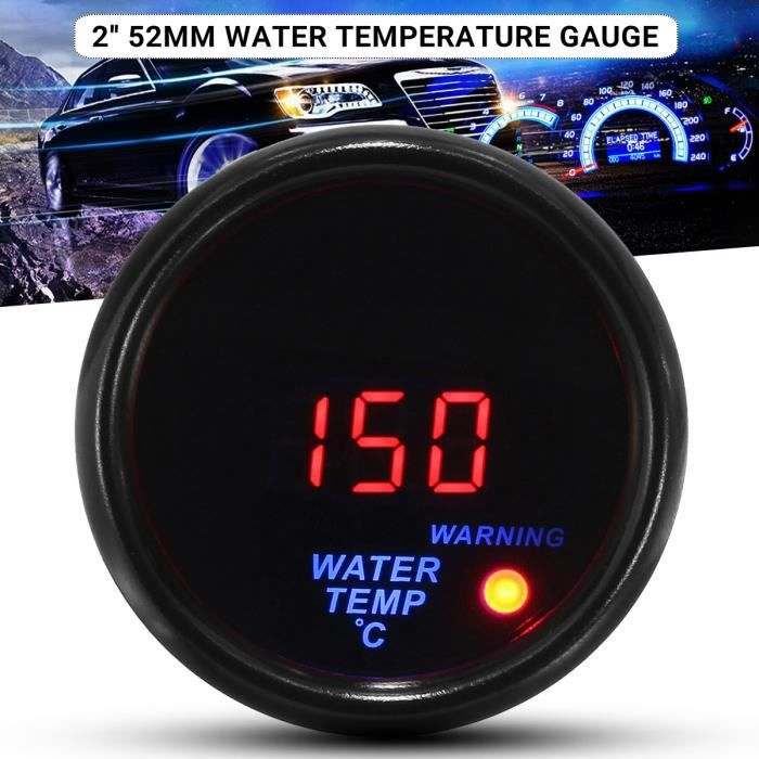 """2/"""" 52mm Universal Car Digital LED Water Temp Temperature Gauge Meter 40-120℃"""