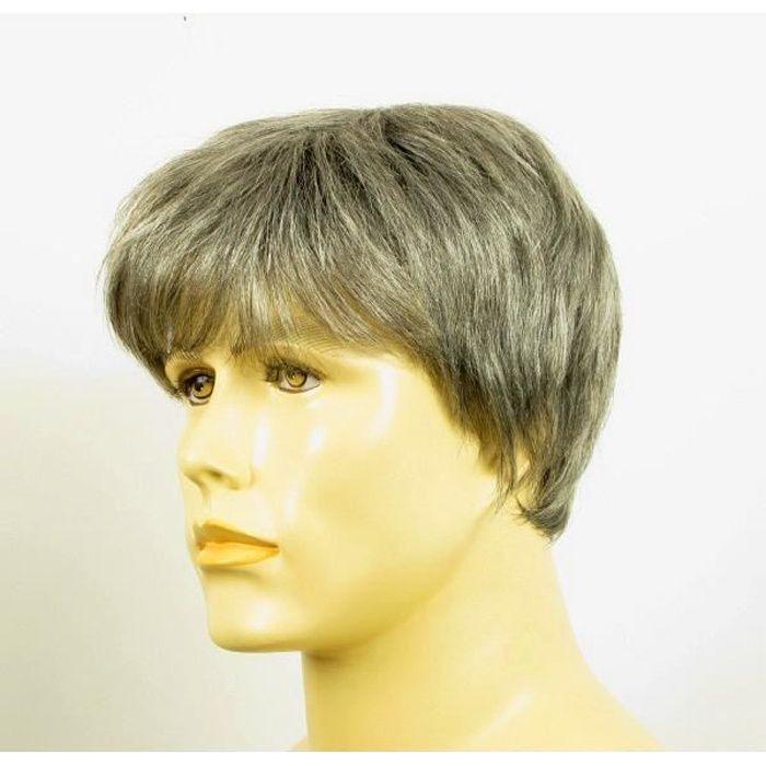 Perruque homme cheveux naturels courte poivre et sel ref KEVIN 44 - Achat / Vente perruque ...