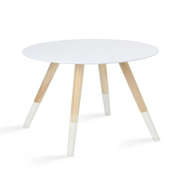 table ronde en bois blanc achat vente table ronde en bois blanc pas cher soldes d s le 10. Black Bedroom Furniture Sets. Home Design Ideas