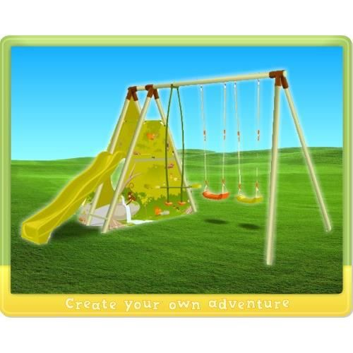 pin jungle fort swing set swingset on pinterest