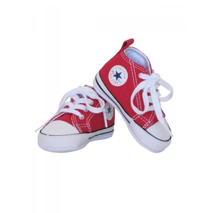 CONVERSE - Baskets All star bébé fille toile rouge Converse