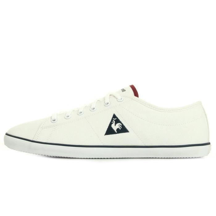 Baskets Le Coq Sportif Slimset Canvas Optical White Ruby Wine