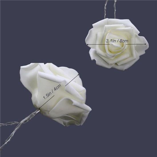Alimenté Par Batterie 20 DEL Blanc Chaud Rose Fleur Fée String Lumière pour Noël
