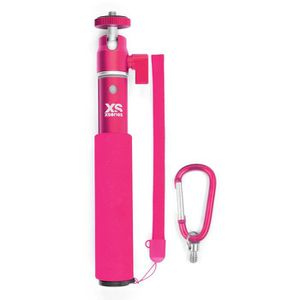XSories - U-SHOT - Perche télescopique 18 ? 49 cm pour GoPro, appareil photo ou camera, en aluminium inoxydable, rose