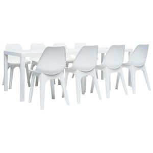 Ensemble table et chaise de jardin Festnight Ensemble de mobilier d'Extérieur Salle à