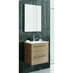 MEUBLE BAS COMMODE SDB COLLECTION ROYO STREET 50 2 TIROIRS NOGAL