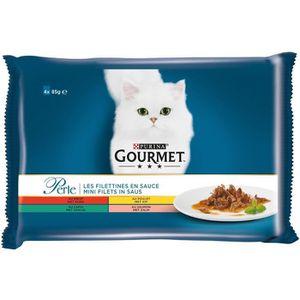 BOITES - PATÉES Aliment complet chat en sauce 4 x 85 g GOURMET