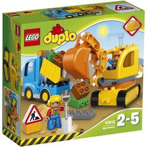ASSEMBLAGE CONSTRUCTION LEGO® DUPLO® 10812 Le Camion et la Pelleteuse - Je