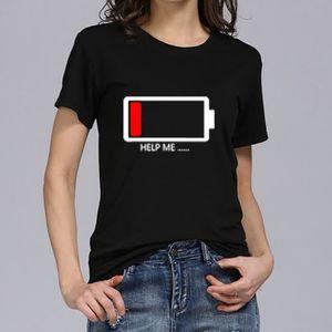 T-SHIRT Femmes Filles Plus Size Print T-shirts manches cou