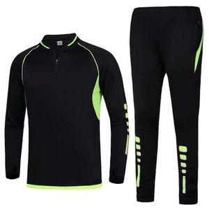 Leggings 1Bests Hommes Sport /Étendue 2PC Surv/êtement Aptitude Football De Base Thermique Manche Longue T-Shirt