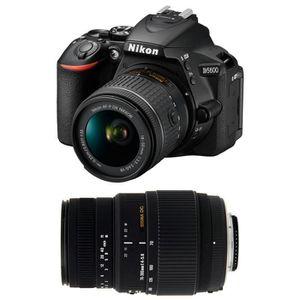 APPAREIL PHOTO RÉFLEX NIKON D5600 + AF-P DX 18-55mm 3,5-5,6G VR + SIGMA