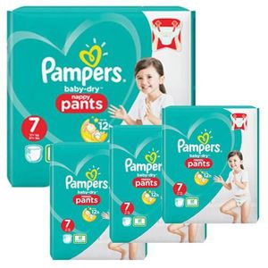 COUCHE 174 Couches Pampers Baby Dry Pants taille 7