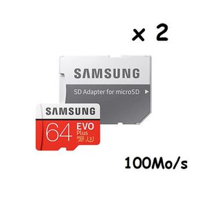 CARTE MÉMOIRE 2PCS carte mémoire Samsung EVO Plus Micro SDXC 64