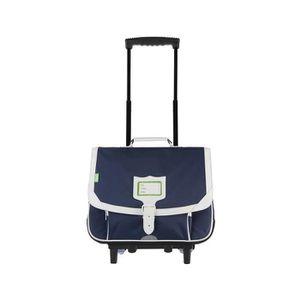 CARTABLE Tann's - Cartable à roulettes bleu marine 38cm CE1