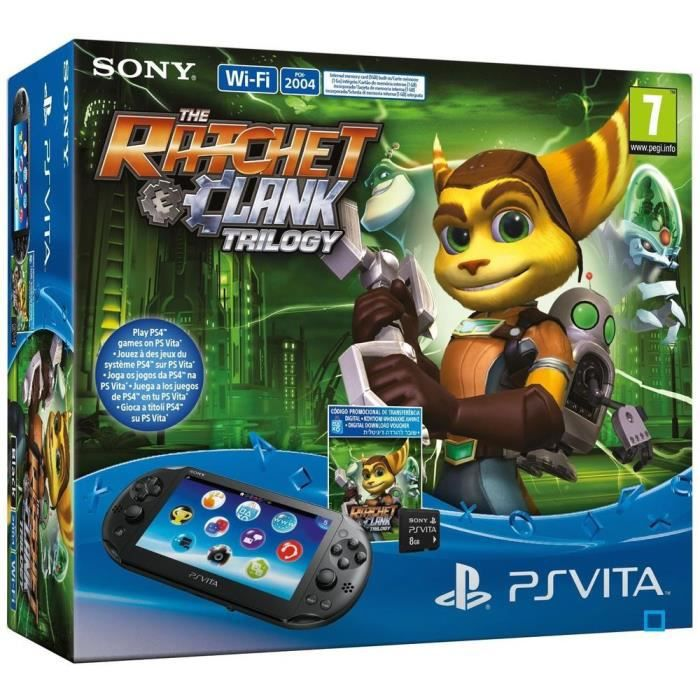 Pack PS Vita WiFi 2000+Ratchet&Clank Trilogy+CM8Go