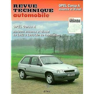 revue technique automobile opel corsa a moteurs achat. Black Bedroom Furniture Sets. Home Design Ideas