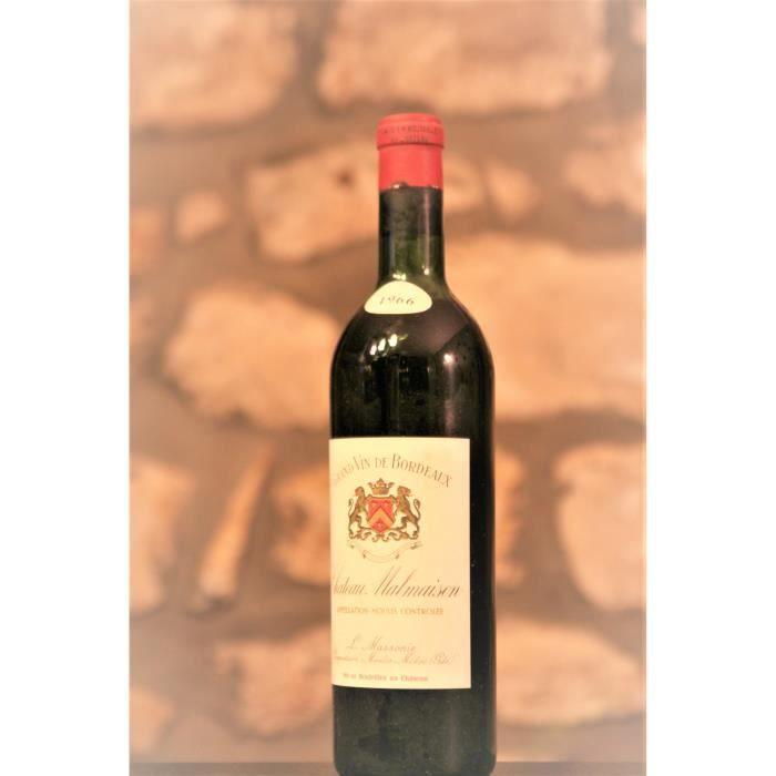 Vin rouge, Moulis, Château Malmaison 1966 Rouge