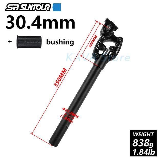 Pièce Détachée,SR Suntour NCX suspension d'amortissement de vélo tige de selle VTT 50mm voyage - Type NCX 30.4MM