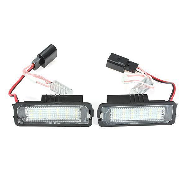 2 x Feux plaque d'immatriculation 18 SMD Chips LED éclairage pr VW Golf Mk4 MK5 Passat Polo