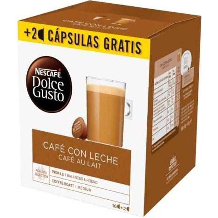 Capsules de café Nescafé Dolce Gusto Cafe au lait (18 Uds)