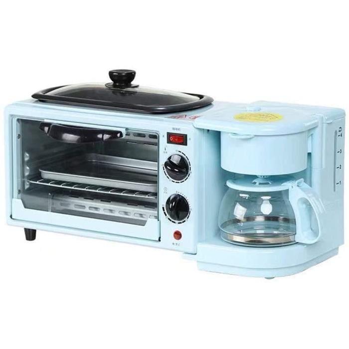 TOASTER AIPZDJ Multifonction 3 en 1 Reacutetro Machine agrave Petit Deacutejeuner Grille Pain Eacutelectrique Mini Four Machine 702