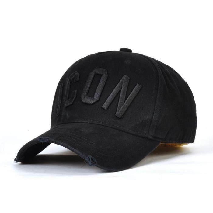 Icône Dsq casquette Chapeau pour hommes femmes motif de broderie casquette de Baseball Hip Hop Chape D-02 Adjustable