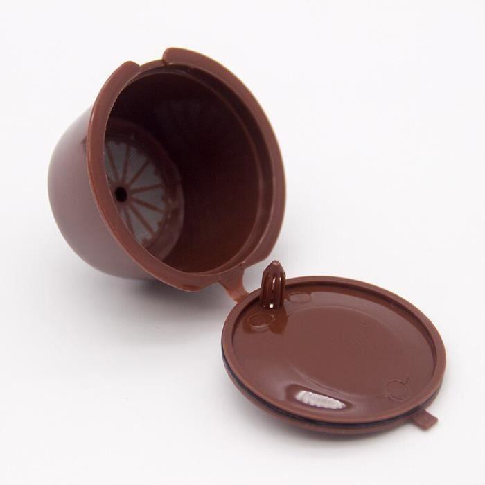 Café Filtres,Dolce Gusto – capsules de café réutilisables, 1 pièce, filtre manuel, coquille de café, outil - Type 1PCS Brown