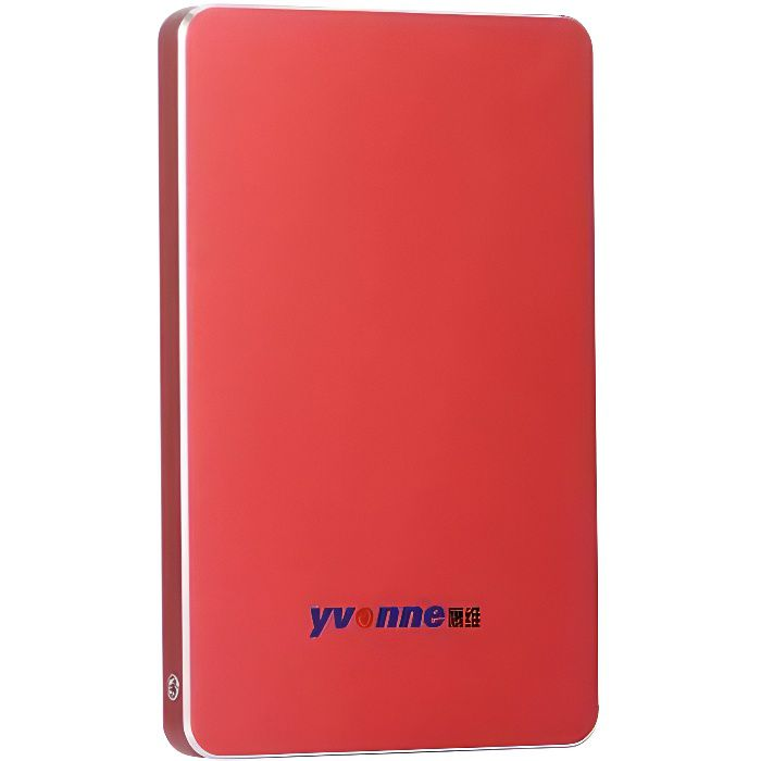 Yvonne 2.5 - USB 3.0 HDD Disque Dur Mobile Externe Portable Stockage HDD 320Go - rouge